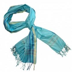 Soft Kikoy Blue/Cream striped_D36/2