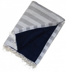 Kikoy Towel Light Grey, Dark Grey Stripes_387/8