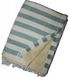 Kikoy Beach Towel Cream/Blue Jean striped_387/17