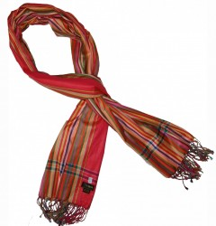 Soft Kikoy Bright Red Multi-Colour striped_026/43