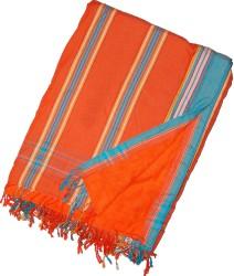 Kikoy Beach Towel Orange Peach striped_S340/25