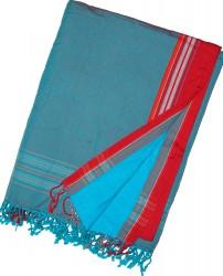 Kikoy Beach Towel Red Cyan_259
