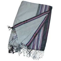 Soft Kikoy Towel White/Faded Grey Border