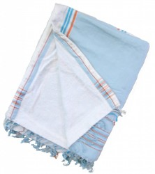 Baby blue with white toweling