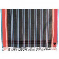 Kikoy Black/Gray Striped