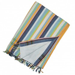 Kikoy Towel MulitColour, Jean Blue, Yellow, White_393/3_White