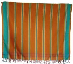 Kikoy Orange Green/Blue Stripe_S340/12
