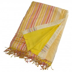 Kikoy Towel Yellow with Yellow/Orange Stripes_334/3