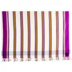 Kikoy White/Purple Striped